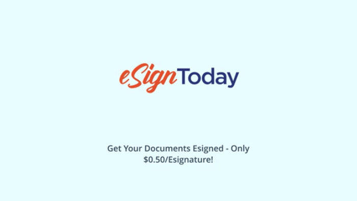 eSignToday video explaining affordable esign software service